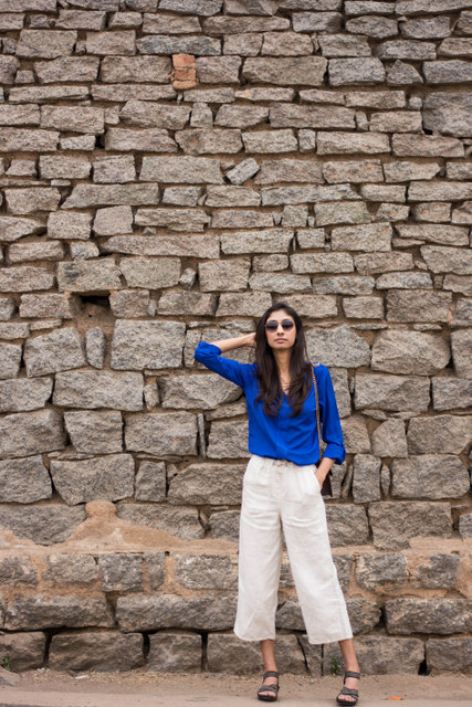 linen culottes, culottes online india, indian fashion blogger, how to wear culottes, white culottes online india, top indian fashion blog, best indian fashion blog, hyderabad fashion blog