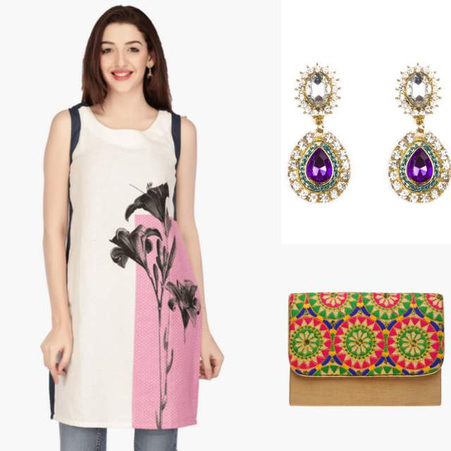 shoppers stop online india, women kurta online india, white kurtas online india, W kurta online india, indian fashion blog kurtas
