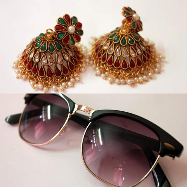 top 5 monthly favorites, koovs sunglasses, stylefiesta earrings online, stylefiesta jhumkas online, top indian fashion blog, best indian fashion blogger