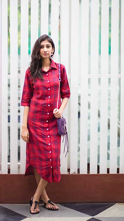 missa more red shirt dress, how to wear a shirt dress, shirt dress indian fashion blog, buy shirt dress online, styling a shirt dress