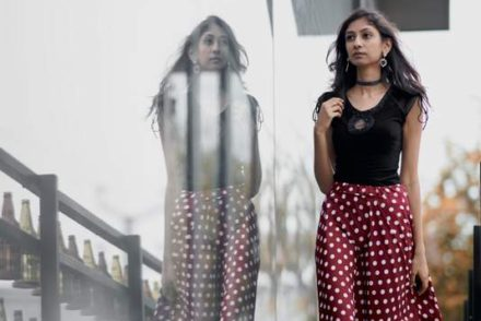 polka dot skirt, midi skirt online india, indian fashion blog, top indian fashion blog, best indianf fashion blog, hyderabad blogger, maroon midi skirt, bold dressy party look 2016