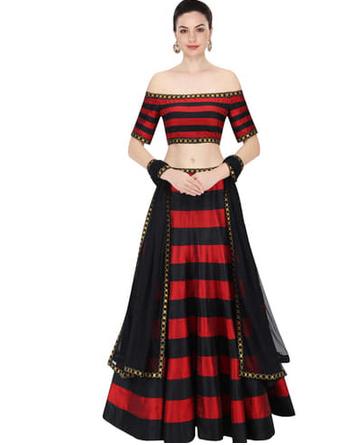 off shoulder lehenga online india, off shoulder lehenga craftsvilla, designer lehenga craftsvilla